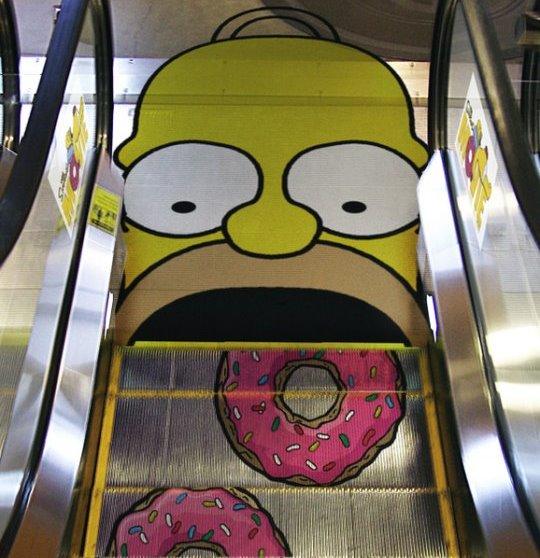 Iklan Kreatif di Eskalator
